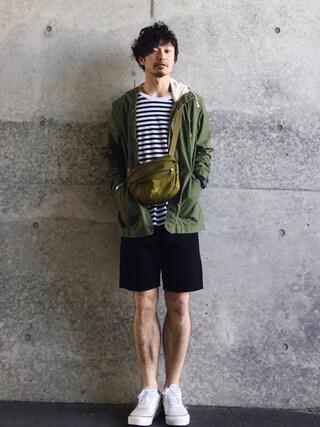 タマハジさんの「【予約】Lee × DOORS-natural- Mountain Parka(URBAN RESEARCH DOORS MENS|アーバンリサーチ ドアーズ メンズ)」を使ったコーディネート
