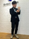 GLOABL WORK富士南店さんの「バンダナ/739354(GLOBAL WORK|グローバルワーク)」を使ったコーディネート