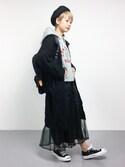 yukiさんの「【CHAMPION】プリントパーカー(Champion|チャンピオン)」を使ったコーディネート