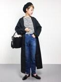 yukiさんの「TWW ビッグ マリン シャツ◆(IENA|イエナ)」を使ったコーディネート