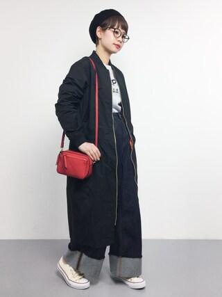 「Pe/TWILL  MA-1 ワンピース(I am I in fact...)」 using this ZOZOTOWN|yuki looks