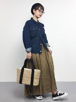 「WRANGLER / 別注オーバー デニムジャケット(BEAMS LIGHTS Women's)」 using this ZOZOTOWN|yuki looks