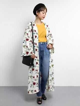 「ハナガラガウン/744571(JEANASIS)」 using this ZOZOTOWN|yuki looks