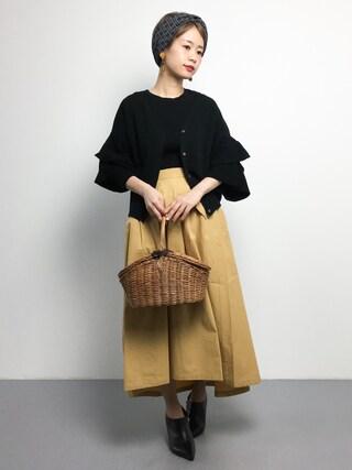 「ポプリンテールカットスカート(PAR ICI)」 using this ZOZOTOWN|yuki looks