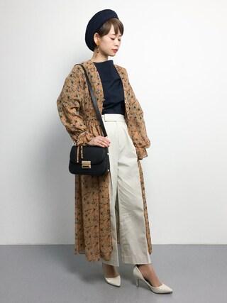 「袖リボンシャツ(GALLARDAGALANTE)」 using this ZOZOTOWN|yuki looks