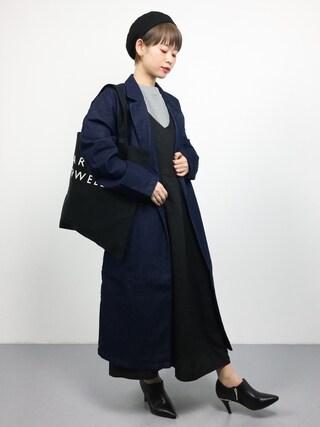 「Vネックジャンパースカート5936(merlot)」 using this ZOZOTOWN|yuki looks