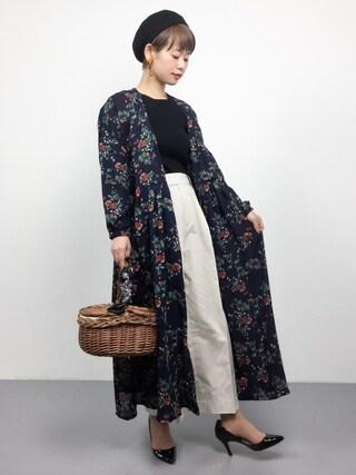 「DOORS コットンクロップドパンツ(URBAN RESEARCH DOORS WOMENS)」 using this ZOZOTOWN|yuki looks
