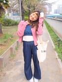 yuuunaさんの「カットレースビスチェ(Kastane|カスタネ)」を使ったコーディネート