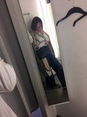 sara:) is wearing GU