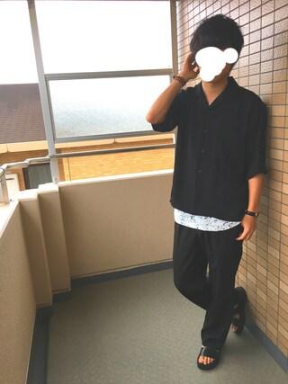 takumaさんの「サテンカイキンシャツ(HARE)(HARE|ハレ)」を使ったコーディネート