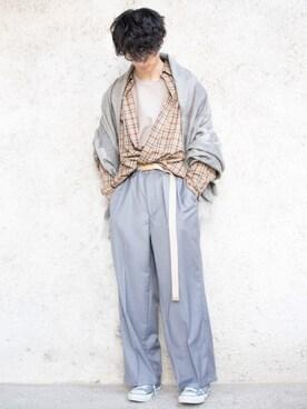 JUNRed PRESS|KURE.さんの「TRチェックロングシャツ(JUNRed|ジュンレッド)」を使ったコーディネート