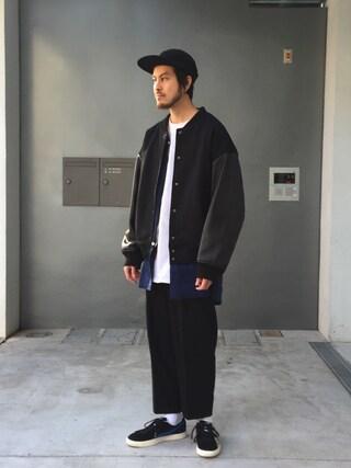モンキータイム ビューティ&ユース ユナイテッドアローズ 原宿店|Kouta Horiuchiさんの「<BASE MFG> WL 2 PANEL CAP/キャップ(MONKEY TIME|モンキータイム)」を使ったコーディネート
