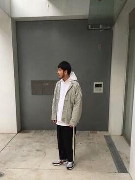 モンキータイム ビューティ&ユース ユナイテッドアローズ 原宿店 Kouta Horiuchiさんのカバーオール「<Lee × monkey time> 91-J Hickory/カバーオール(Lee リー)」を使ったコーディネート