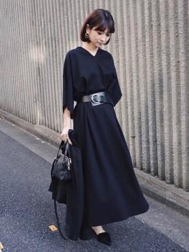 MariNakamuraさんの「LOOSE WIDE MAXI OP(RIM.ARK)」を使ったコーディネート