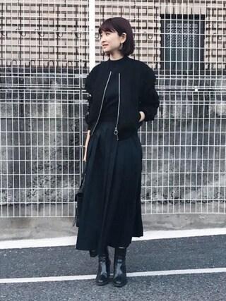 MariNakamuraさんの「ZIP UP RIB BZ(RIM.ARK|リムアーク)」を使ったコーディネート