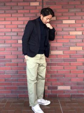 Fumiyaさんの「UR ポンチ2Bジャケット(URBAN RESEARCH)」を使ったコーディネート