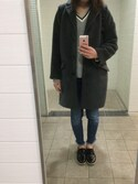 miiさんの「WOMEN コットンカシミヤクリケットセーター(長袖)(ユニクロ|ユニクロ)」を使ったコーディネート