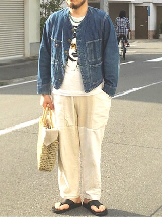 tortoise|yoheiさんの(60s エンジニアジャケット)を使ったコーディネート