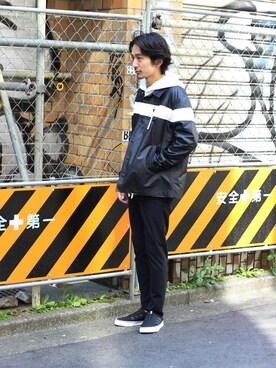JOURNAL STANDARD 渋谷店|平中さんのブルゾン「テープラインコーチジャケット #(JOURNAL STANDARD|ジャーナルスタンダード)」を使ったコーディネート