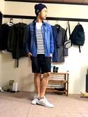 k.s★基本GUさんの「BEN DAVIS cotton KNIT CAP(BEN DAVIS|ベンデイビス)」を使ったコーディネート