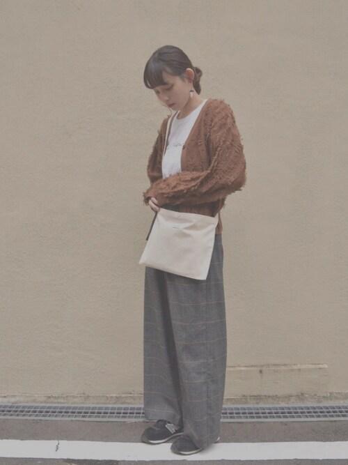Sayacaさんの「ベアーカーディガン(ミニ丈)(manimo)」を使ったコーディネート