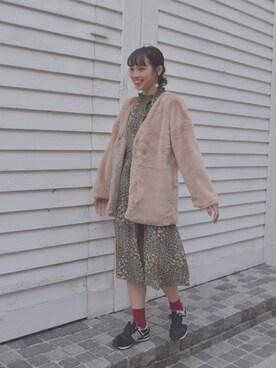 Sayacaさんの「リッチファーコート(manimo)」を使ったコーディネート