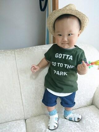HARUHARUさんの「PARK Tシャツ(quoti use fith クゥオティ ユース フィス)」を使ったコーディネート