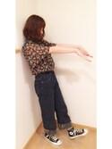 Nozomiさんの「楊柳フラワーハイネックブラウス(PAGEBOY|ページボーイ)」を使ったコーディネート