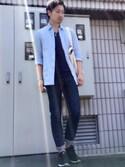 kyosukeさんの「MEN プレミアムリネンシャツ(長袖)(ユニクロ|アー・ペー・セー)」を使ったコーディネート