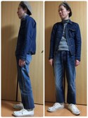 しろーさんの「Denim Jacket Heritage Wash 04(KURO|クロ)」を使ったコーディネート