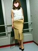 ユッピーさんの「☆JOC C/R ツイルリボン タイトスカート(Jewel Changes|ジュエルチェンジズ)」を使ったコーディネート