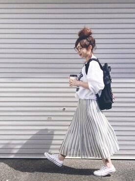 SIZUさんの「X-girl×BURGER RECORDS CUSTOM SWEAT TOP(X-girl|エックスガール)」を使ったコーディネート