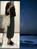福太郎さんの「【CLASSY.6月号掲載】C/PUミリタリースカート 749453(apart by lowrys アパートバイローリーズ)」を使ったコーディネート