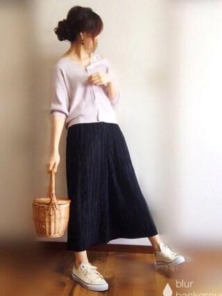 「肩リボン3WAYカーディガン(natural couture)」 using this ぴょん looks
