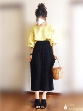 ぴょんさんの「PPサテンプリーツパンツ(natural couture|ナチュラルクチュール)」を使ったコーディネート