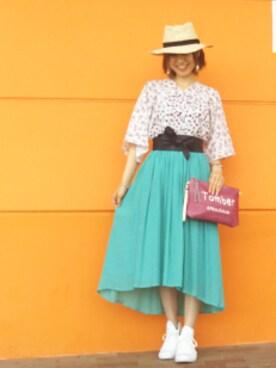 SHOO・LA・RUE|KIRIさんの「2WAYロゴ刺繍クラッチバッグ(DRESKIP)」を使ったコーディネート