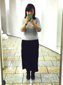 colorchildさんの「WOMEN メリノブレンドリブスカート(ユニクロ|ユニクロ)」を使ったコーディネート