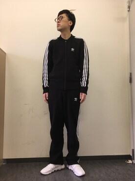 吉田たち こうへいさんの(adidas|アディダス)を使ったコーディネート