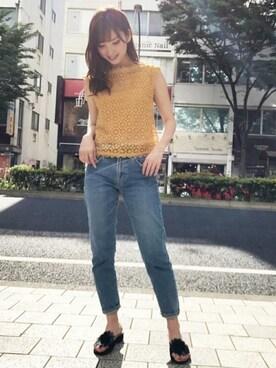 dazzlin  SHOP STAFF|谷川 菜奈さんの(dazzlin|ダズリン)を使ったコーディネート