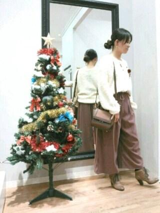INTERPLANET WINGS 浜松市野店|NaNaさんの「モヘアライクループ編みニット(INTERPLANET WINGS|インタープラネットウィング)」を使ったコーディネート