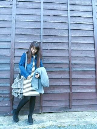 INTERPLANET WINGS 浜松市野店|NaNaさんの「BASICカットデニムJK(INTERPLANET|インタープラネット)」を使ったコーディネート