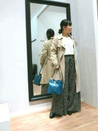 INTERPLANET WINGS 浜松市野店|NaNaさんの「リヨセルタッチテロンチコート(actuel|アクチュエル)」を使ったコーディネート
