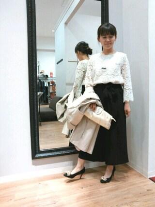 INTERPLANET WINGS 浜松市野店|NaNaさんの「二重織リボン付パンツ(actuel|アクチュエル)」を使ったコーディネート