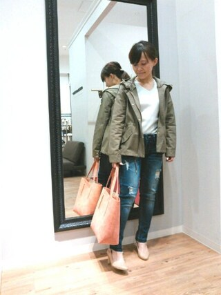INTERPLANET WINGS 浜松市野店|NaNaさんの「14Gワイドリブニット(INTERPLANET|インタープラネット)」を使ったコーディネート