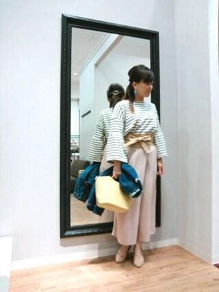 INTERPLANET WINGS 浜松市野店|NaNaさんの「【OandI】ノーカラーデニムJK(actuel|アクチュエル)」を使ったコーディネート