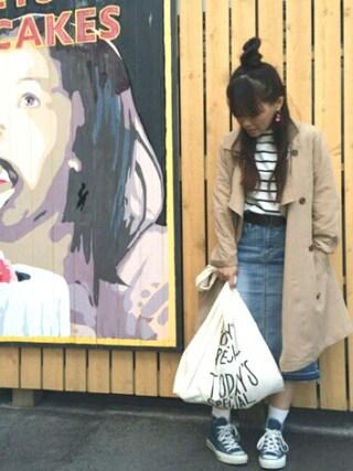 INTERPLANET WINGS 浜松市野店|NaNaさんの「ツイストスリーブボートネックカットソー(INTERPLANET|インタープラネット)」を使ったコーディネート