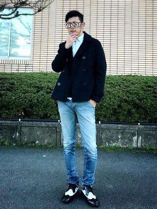SAO★☆★さんの「ショート丈メルトンPコート(ROOPTOKYO|ループトウキョウ)」を使ったコーディネート