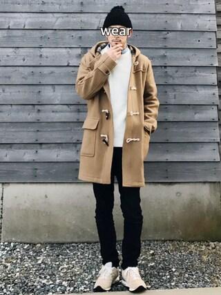 SAO★☆★さんの「MEN ストレッチスキニーフィットテーパードジーンズ(ユニクロ|ユニクロ)」を使ったコーディネート