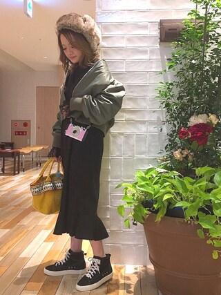 *shiho*さんの「MA-1(Mila Owen|ミラ オーウェン)」を使ったコーディネート