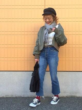 shihocooさんの「MA-1(Mila Owen|ミラ オーウェン)」を使ったコーディネート